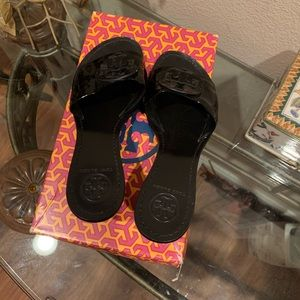 Tory Burch Shoes - Tory Burch black patient leather mules